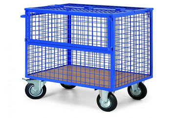 Plošinový vozík  400 kg, 1010 x 710 mm, zamykatelný, 101324