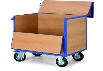 Plošinový vozík  400 kg, 1010 x 710 mm, zamykatelný, 101325