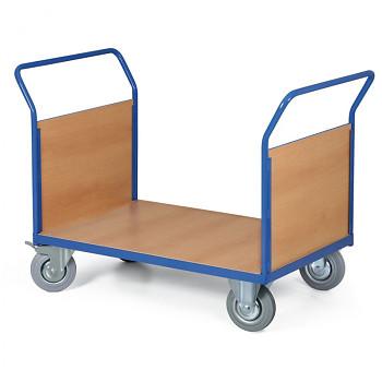 Stavebnicový plošinový vozík - 2 madla s výplní