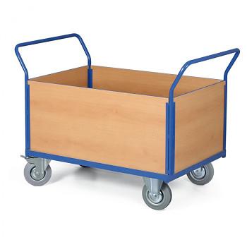 Stavebnicový plošinový vozík - 2 madla, 4x výplň