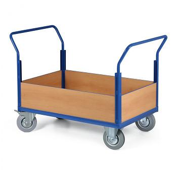 Stavebnicový plošinový vozík - 2 madla, 4x snížená výplň