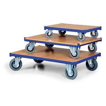 Plošinový vozík  400 kg, 1000 x 700 mm, 101274