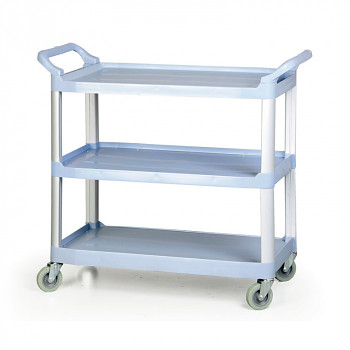 Plastový policový úklidový vozík