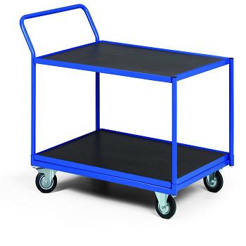 Policový vozík 400 kg, 1000 x 700 mm, 2x voděodolná police