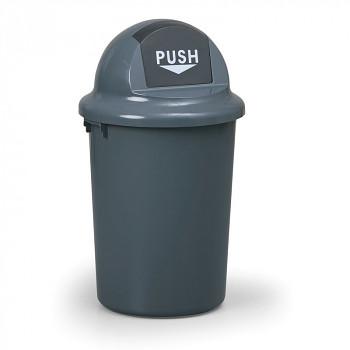 Koš na odpadky válcový s víkem 60 l, plastový