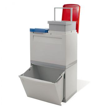 Koš na třídeněný odpad EKOMODUL, 1x 30 l, 2x 15 l