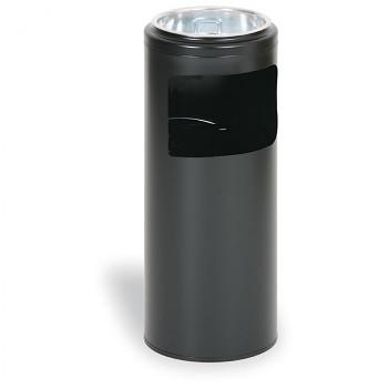 Odpadkový koš s popelníkem  622x250 černá
