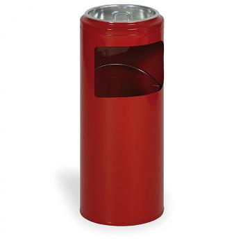 Odpadkový koš s popelníkem  622x250 červená