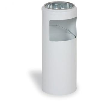 Odpadkový koš s popelníkem  622x250 bílá
