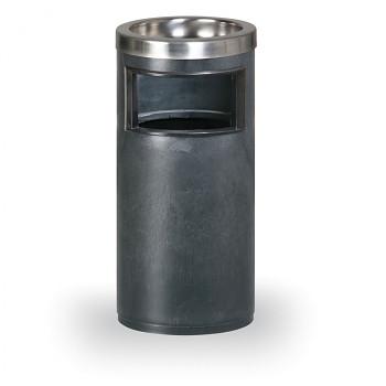 Odpadkový koš s popelníkem  580x270 černá