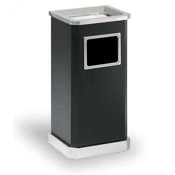 Odpadkový koš s popelníkem  650x310x260 černá