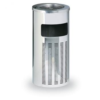 Odpadkový koš s popelníkem  640x305 Nerez lesklý