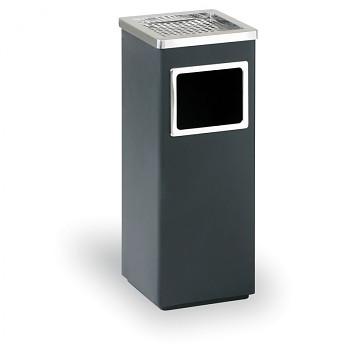 Odpadkový koš s popelníkem  600x240x240 černá