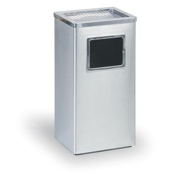 Odpadkový koš s popelníkem  600x300x240 Nerez matný