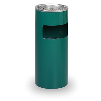 Odpadkový koš s popelníkem  600x250 zelený