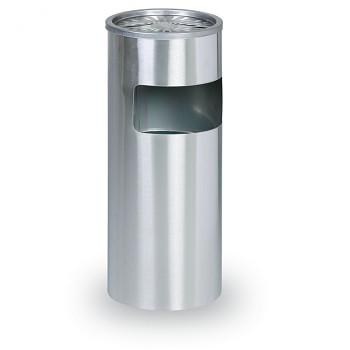 Odpadkový koš s popelníkem  600x250 Nerez matný