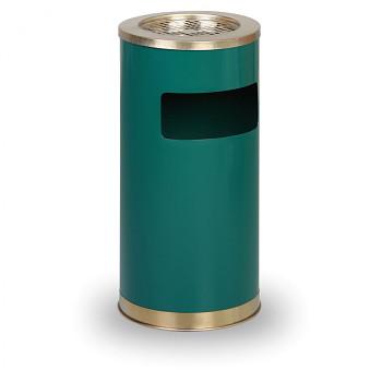 Odpadkový koš s popelníkem  640x305 zelený