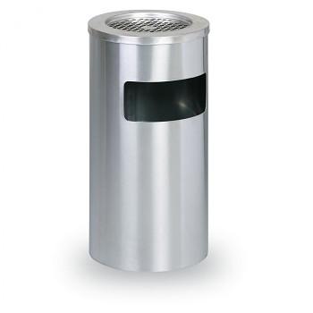 Odpadkový koš s popelníkem  600x305 Nerez matný