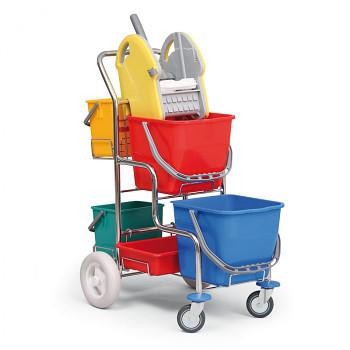 Profesionální úklidový vozík bez držáku na pytel