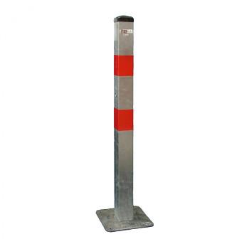 Parkovací sloupek základní - pevný (nesklopný), k zakotvení - pozinkovaný