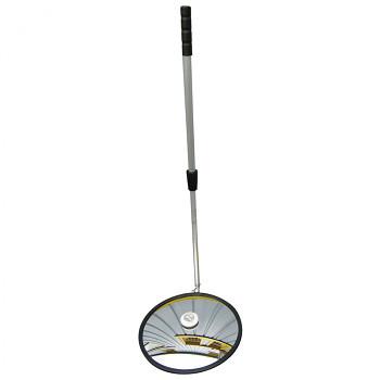 Kontrolní zrcadlo 400 mm, tyč, LED osvětlení