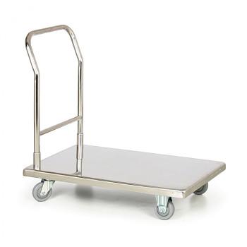 Plošinový vozík  300 kg,  900 x 550 mm, nerez