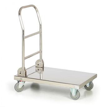 Plošinový vozík  150 kg,  720 x 410 mm, nerez skládací