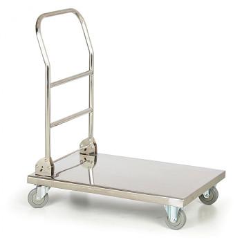 Plošinový vozík  250 kg,  820 x 520 mm, nerez skládací