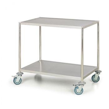 Nerezový stolek, 2 police
