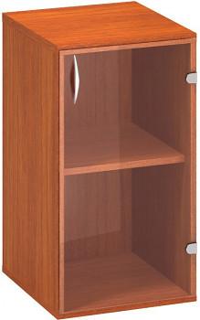 Kancelářská skříň,  735x 400x458, třešeň, pravá sklo, CLASSIC
