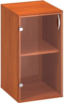 Kancelářská skříň,  735x 400x458, třešeň, levá sklo, CLASSIC