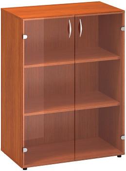 Kancelářská skříň, 1063x 800x458, třešeň, sklo, CLASSIC