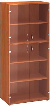 Kancelářská skříň, 1780x 800x458, třešeň, sklo, CLASSIC