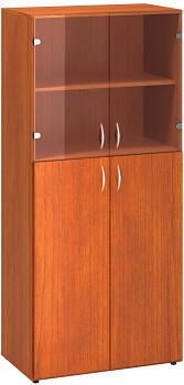 Kancelářská skříň, 1780x 800x470, třešeň, kombinovaná sklo 2, CLASSIC