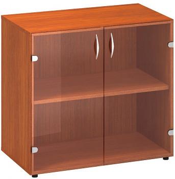 Kancelářská skříň,  735x 800x458, třešeň, sklo, CLASSIC