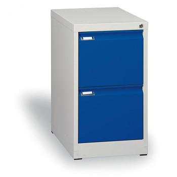 Kartotéka A4 kovová, 2x zásuvka, modrá
