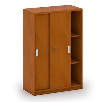 Kancelářská skříň, 1200x 800x400, třešeň, posuv, MIRELLI A+