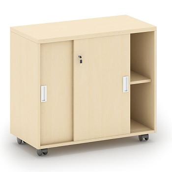 Kancelářský kontejner  800x 750x420, bříza, posuv, MIRELLI A+