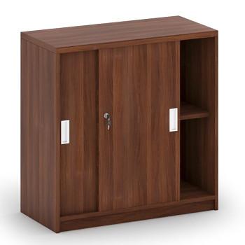 Kancelářská skříň,  800x 800x400, ořech, posuv, MIRELLI A+