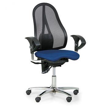 Kancelářská židle EXETER NET modrá bez opěrky hlavy
