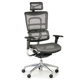 Kancelářská židle WINSTON N šedá bederní díl