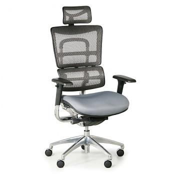 Kancelářská židle WINSTON CN šedá bederní díl