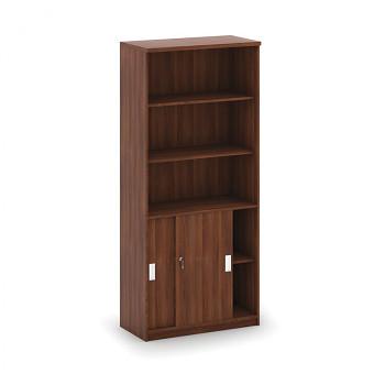 Kancelářská skříň, 1800x 800x400, ořech, kombi/ořech, MIRELLI A+