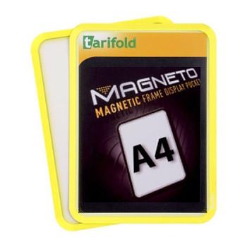 Magnetická kapsa A4, 2ks, žlutá