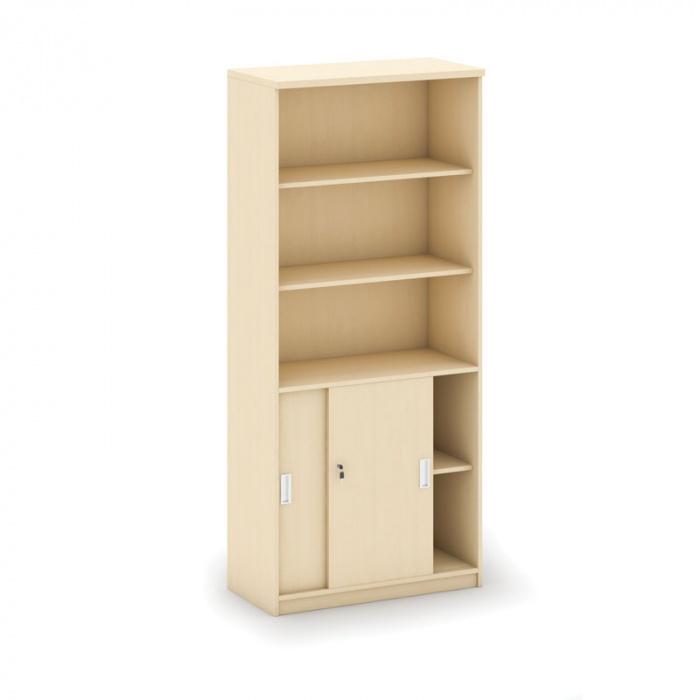 Kancelářská skříň, 1800x 800x400, bříza, kombinovaná posuv, MIRELLI A+