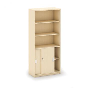 Kancelářská skříň, 1800x 800x400, bříza, kombi/posuv, MIRELLI A+