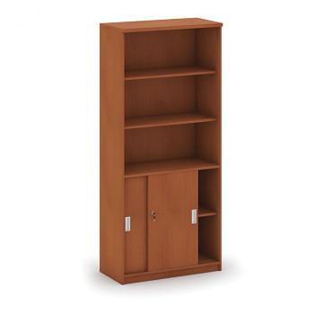 Kancelářská skříň, 1800x 800x400, třešeň, kombinovaná posuv, MIRELLI A+