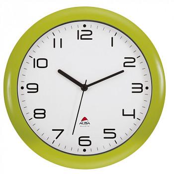 Nástěnné hodiny světle zelené