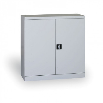Kovová skříň 1040x1000x435 mm, šedá/šedá, 60 kg na polici