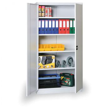 Kovová skříň 1990x 800x435 mm, šedá/šedá, 60 kg na polici